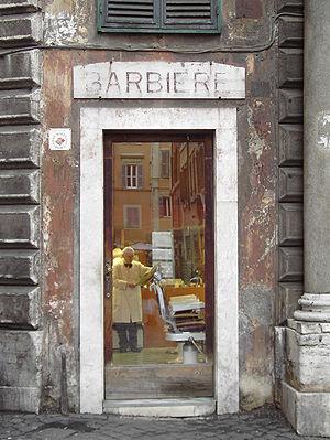 Rome, Barber Shop a via dei Portoghesi