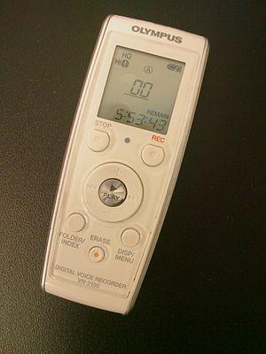 English: Olympus Digital Voice Recorder
